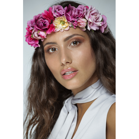 Floral headband in pastel colours