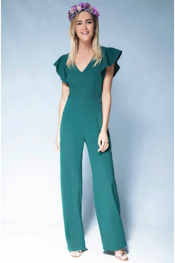 Green jumpsuit - Cecile