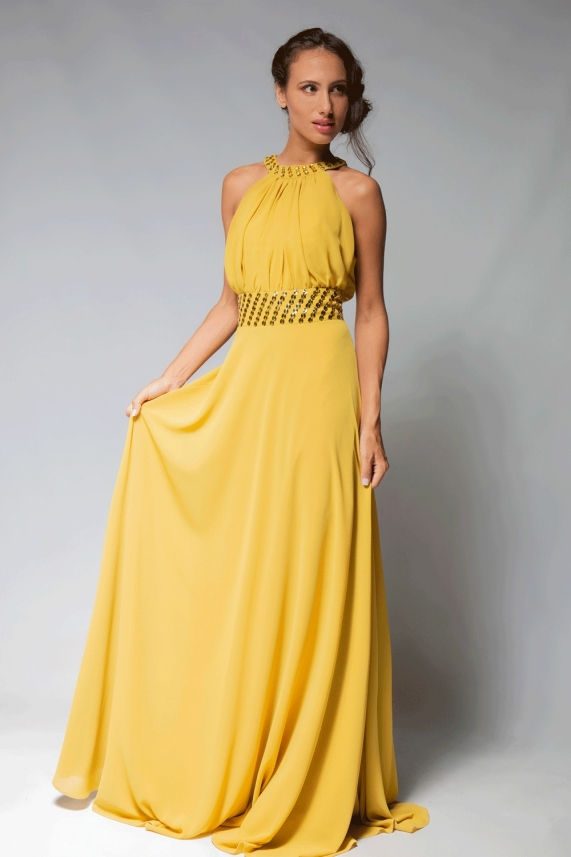 Yellow long dress – Anne
