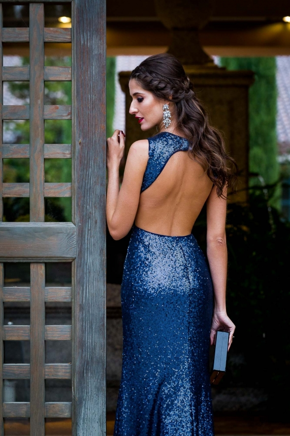 Blue sequin dress – Odette