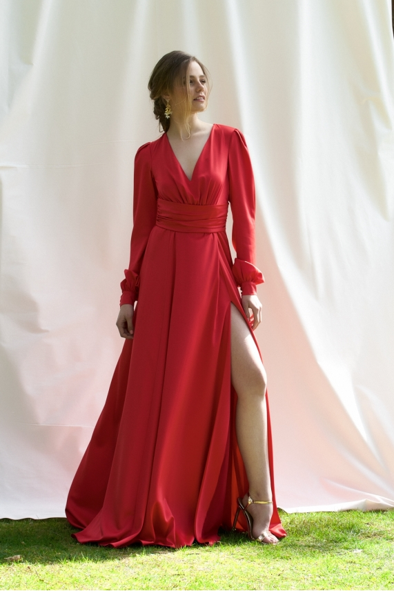 Long red dress - Guilia