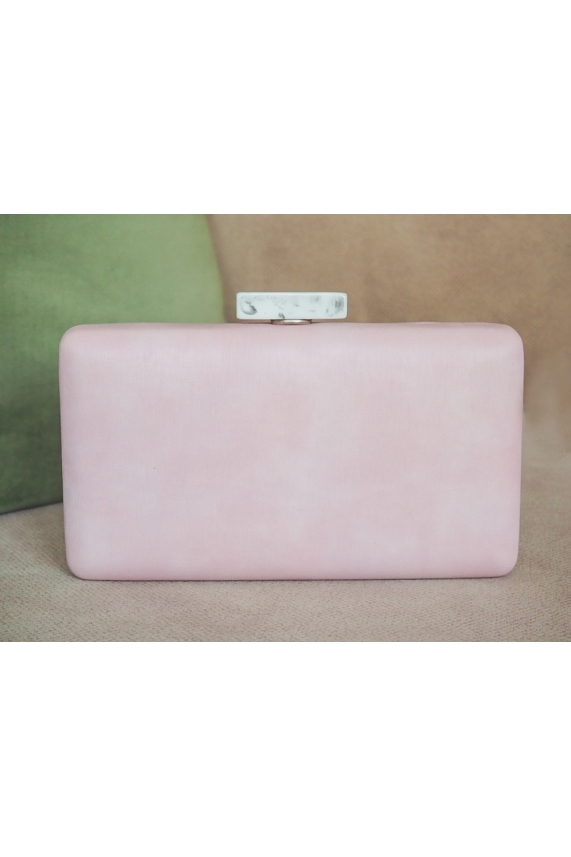 Clutch rectangular rosa